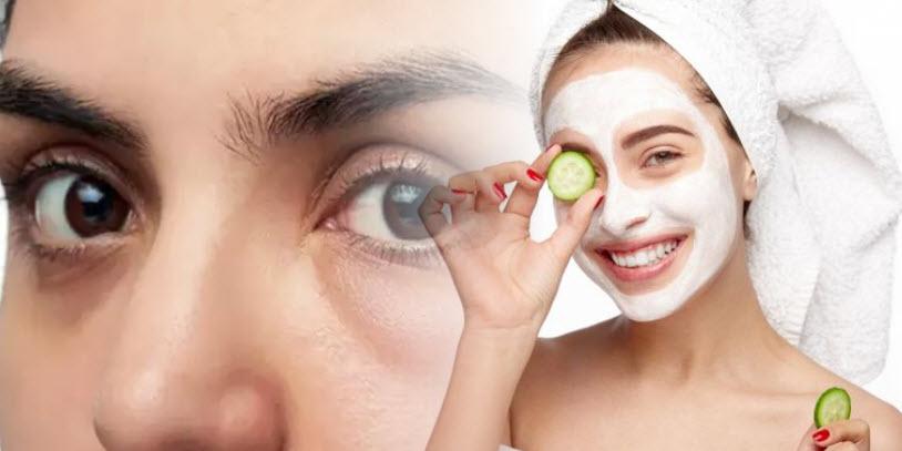 Cucumber gets rid of puffy eyes